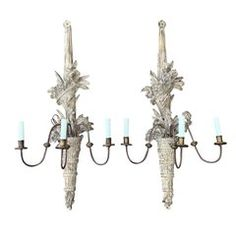 Large American Polished Brass Three-Light American Sconces, Early Century For Sale at Brass Mirror, Brass Sconce, Wall Sconce Lighting, Wall Sconces, Wall Lights, Ceiling Lights, Scroll Design, Belle Epoque, Polished Brass