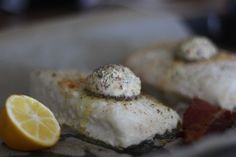 Bacon-Butter Halibut - paleo and so good!