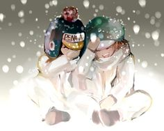 Penguin and Shachi #one piece #heart pirates