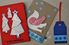 Mrs Fox's Children's crafts and parties: Handmade Christmas Cards - Part One Button Christmas Cards, Christmas Card Packs, Christmas Card Crafts, Personalised Christmas Cards, Christmas Cards To Make, Xmas Cards, Kids Christmas, Diy Cards, Handmade Cards