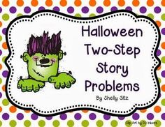 "Halloween Word Problems.    Word problems for Halloween!    ""My second graders will be learning about two-step word problems for subtraction.  I created a freebie to share with you.  My students love it when I use clip art  on the worksheets I create for them.    They especially like Halloween.  Click on the picture below for your free copy."""