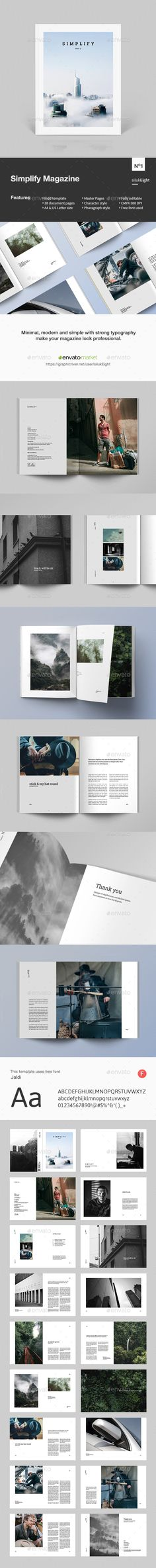 848 Best Minimal Magazine Template Images Brochure Template Card