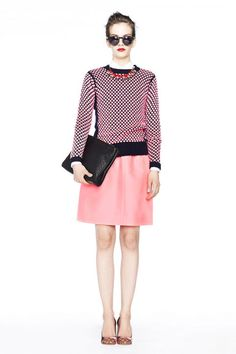 J.Crew outfit perfection. Add charcoal or black tights for chilly temps