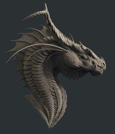 ArtStation - Smaug, Zac Berry Dragonhead 龍
