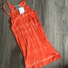 CC California Alien Tye Dye Orange Tank Top Halter Brand new. Size medium. Alien tank. C&C California Tops Tank Tops