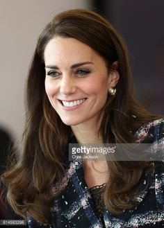 Catherine Duchess of Cambridge visits the National Graphene Institute at the University of Manchester during her visit to Manchester on October 14...