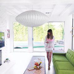@dominomag Instagram photo | George Nelson Saucer Pendant Lamp | http://modernica.net/saucer-lamp.html