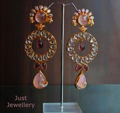 Pink Danglers !!  Price - 5800/-  Place your order by sending us an email to justjewellery08@gmail.com
