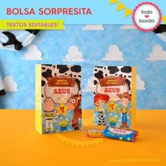 Toy Story: kit etiquetas de golosinas - Todo Bonito