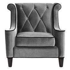 Chic grey armchair
