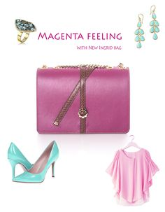 The new Ingrid bag is here and it's marvelous! Its delicate texture combines perfectly with the suave shades of fuchsia, turning your outfit into something spectacular. The little golden flower was especially designed to highlight your femininity and elegance. Visit our site to find out more about it.