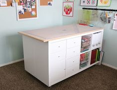 Cutting Table IKEA hack DIY - perfect cutting table for my quilting room!