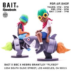 "Hebru Brantley x BBC x BAIT - Fly Boy ""Beyond the Beyond"" available at pop-up… #Bait #Chicago #HebruBrantley #LimitedEdition #LosAngeles"