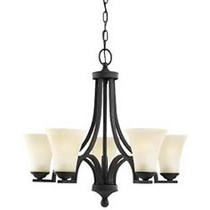 Elegant Chandelier with 5 Lights in Warm White Shade – GBP £ 228.15