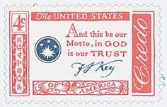 1960 4c American Credo - F.S. Key