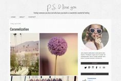 P.S. I Love You Premade Blogger Template - Luvly Marketplace | Premium Design Resources #blogger #template