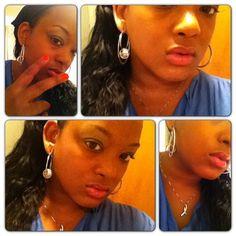 Four #Selfies... #peacesign #pout #ribbon #lips #eyes #oneikam #headscarf