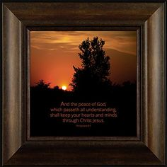 Peace of God By Todd Thunstedt 20x20 Philippians 4:7 Inspirational Sunset Farm Trees Cloudy Religious Israel Catholic Bible Verse Quote Saying Jesus Christ God Framed Art Print Wall Décor Picture ThunderMark Art and Graphics http://www.amazon.com/dp/B014BUVQC0/ref=cm_sw_r_pi_dp_hF64vb1Z7B3YA
