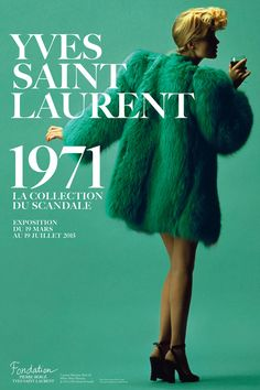 The great Yves Saint Laurent ~ La Collection du Scandale (1971) Now it's absolutely trendy!!!