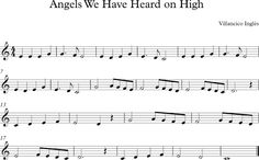 Angels we Have Heard on High. Villancico Inglés