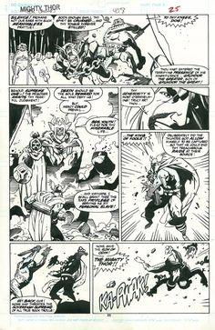 Mike Mignola Thor 408 pg 25 Comic Art