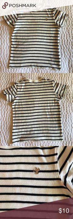 NWT NEXT (UK brand) Shirt Sleeved Tee Shirt NWT NEXT (UK brand) short sleeved tee shirt in white/navy stripe. NEXT Shirts & Tops Tees - Short Sleeve