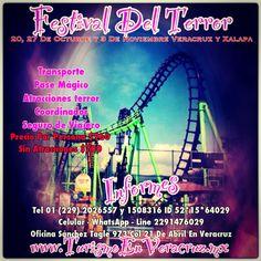 El #festival del #terror en #sixflags saliendo de #Veracruz y #Xalapa http://www.turismoenveracruz.mx/2013/08/el-festival-del-terror-te-espera-en-six-flags-saliendo-de-veracruz-y-xalapa/ #Mexico #mx