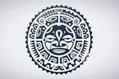 Polynesian Mask | Vector Tattoo by Vecster on @creativemarket