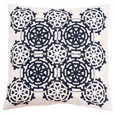 Allem Studio Mosaic Navy Pillow  from @zinc_door #zincdoor #new #bedding