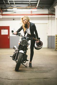 SalzMoto Scrambler Lady Rider Shoot