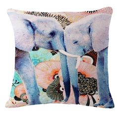 The Elephant series Throw Pillows. Free Shipping and Discounts