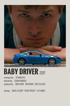 Alternative Minimalist Movie / Show Polaroid Poster - Baby Driver Iconic Movie Posters, Minimal Movie Posters, Cinema Posters, Movie Poster Art, Iconic Movies, Film Posters, Poster Wall, Music Posters, Baby Driver Poster