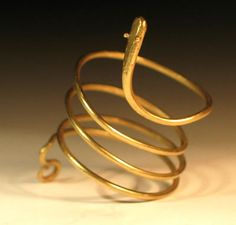 Roman Gold Snake Ring  Beautiful Roman Fine Gold Wire Ring in the form of a Snake - circa 2nd/3rd Century AD,