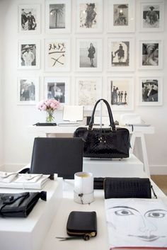 black and white office decor. great black and white office  simple monochrome gallery wall 4 Modern Ideas for Your Home Office D cor Masculine