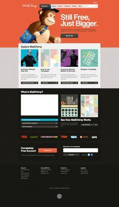 MailChimp - nice web design