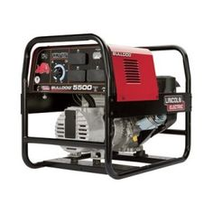 The Lincoln Bulldog 5500 Portable AC Welder/Generator provides the perfect combination of portable AC stick welding and AC generator power. U.S.A. Duty Cycle: 125A AC/20V/30%, 100A AC/25V/60%, Engine: Kohler, Engine