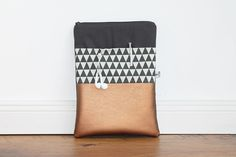 Tablet/Kindle Tasche mit Kupferornamenten / tablet bag by Duftesachen Berlin via DaWanda.com