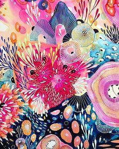Boho Pattern, Pattern Art, Yellena James, Wal Art, Alcohol Ink Art, Illustration, Art Abstrait, Art Inspo, Watercolor Art