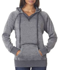 Weatherproof womens Courtney Burnout Hooded Pullover Blend Fleece (W1162) at…