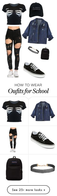 """""""School days / my boyfriends attempt at fashion"""" by chanelkillla on Polyvore featuring Vans, JanSport, Nasaseasons and Humble Chic"""