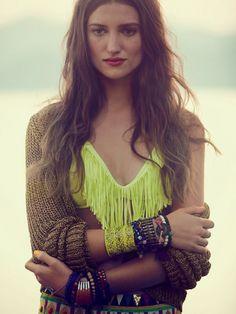 i desperately want a fringe bathing suit! aaah