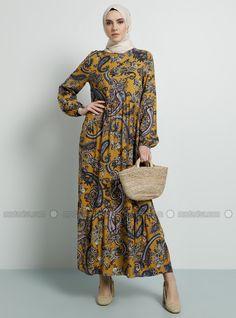 En Guzel Tesettur Elbise Modelleri Hardal Sal Yuvarlak Yakali Astarsiz Kumas Viskon Elbise Https Ift Tt 2wandwu 2020 Elbise Modelleri Elbise Moda Stilleri