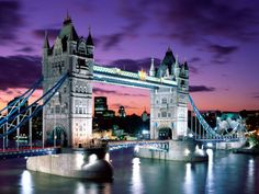 Tower Bridge   Location: London, England on the map   When built: 1894; Height: 65м; Length: 244m