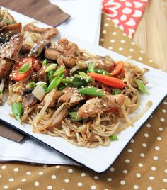 LOW CARB SHIRATAKI NOODLE RECIPES | Easy Chicken Lo-Mein (SRC) | Natural Noshing