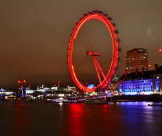Night - long exposure London Eye, London, ENGLAND London Eye, Long Exposure, London England, United Kingdom, Oxford, The Unit, Night, Travel, Viajes