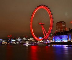 Night - long exposure London Eye, London, ENGLAND