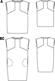 Summer Dress - U-Boat Neck - pattern