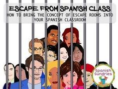Breakout EDU, Escape Games in the Spanish classroom Spanish Teaching Resources, Spanish Activities, Spanish Language Learning, Learning Activities, Teaching Ideas, Language Activities, Spanish Games, Ap Spanish, Learn Spanish
