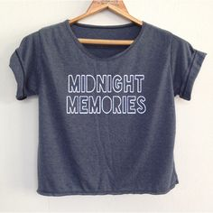 Crop Midnight memories1 Direction Shirt 1d Tunic One Direction Shirt... (€12) ❤ liked on Polyvore