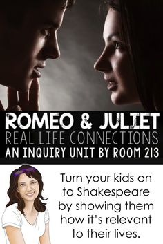 These Romeo and Juliet lessons and activities are sure to engage and get your students interested in Shakespeare. This inquiry unit gives you a fresh approach to teaching the play while still keeping the rigor level high. Physical Activities, Learning Activities, Teaching Ideas, Connected Learning, Life Learning, English Activities, Romeo And Juliet, English Language, Language Arts